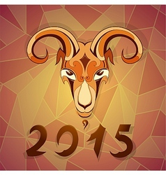 2015 year emblem goat vector image