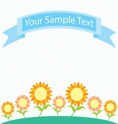 Sunflower garden cartoon vector