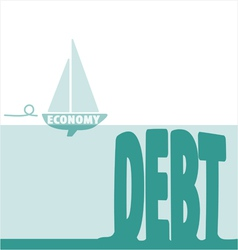 Economy and debt vector