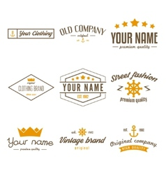 Retro vintage insignias logo or logotype set vector