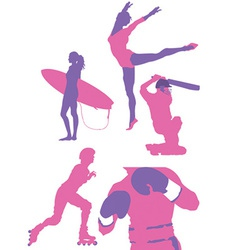 Sports and athletics silhouette vector