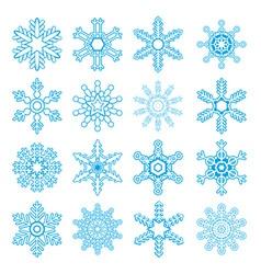 snowflakes symbols vector image