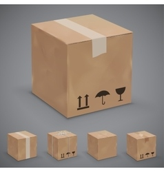 Boxes icons vector
