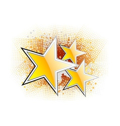 Golden stars on the abstract background vector