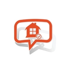 Select house message sticker orange vector