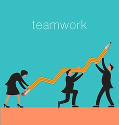Teamwork pencil vector