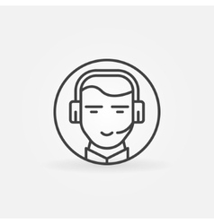 Consultant or operator icon vector