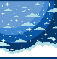 background starry night sky stars sky vector image vector image