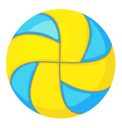 Beach volleyball ball icon cartoon style vector