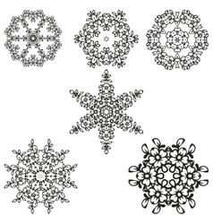 beautiful floral ornament elements vector image