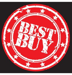 Best buy label vector image