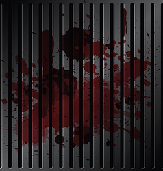blood on grille metallic vector image