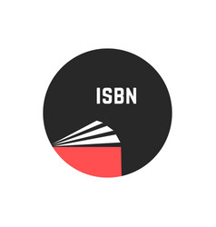 Book with isbn in circle vector