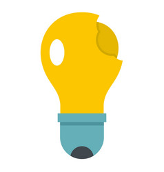 Broken yellow lightbulb icon isolated vector