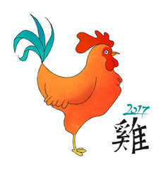 Chinese new year 2017 hand drawn rooster doodle vector