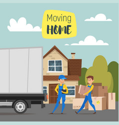 Concept for home moving vector