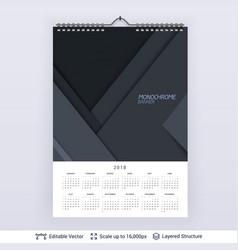 English planning calendar vector