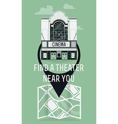 Find a theatre icon vector