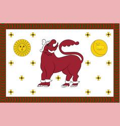 flag of north western province of sri lanka vector image