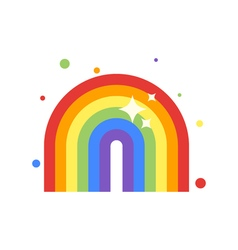flat style of rainbow vector image
