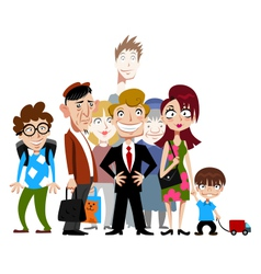 Funny people vector