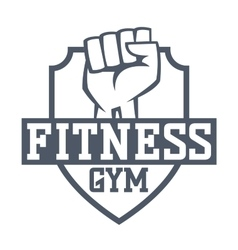 Gym fitness logo badge vector image vector image