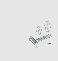 razor and razor blade vector image