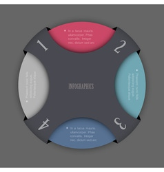 Round design template for infographics vector