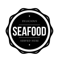 Seafood vintage stamp vector