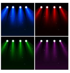 set of light effect spotlights vector image vector image