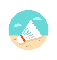 Shuttlecock badminton sport icon summer vacation vector