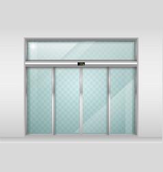 Sliding glass automatic doors vector