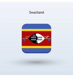 Swaziland flag icon vector