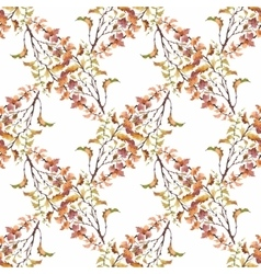 Watercolor seamless pattern on white background vector image