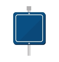 blue sign placard icon vector image