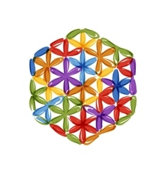 Flower of Life sketch for your design vector image