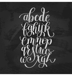 Hand lettering alphabet design handwritten brush vector