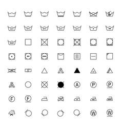 set of laundry symbols vector image