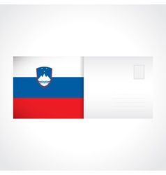 Envelope with slovenian flag card vector