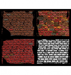 Brick walls vector