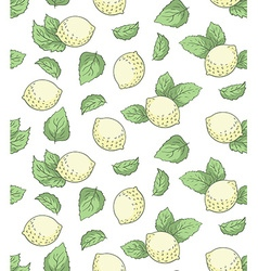 Lemon seamless pattern hand drawing vector