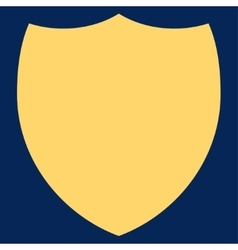 Shield flat yellow color icon vector