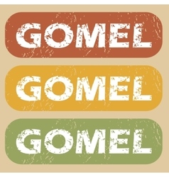 Vintage gomel stamp set vector