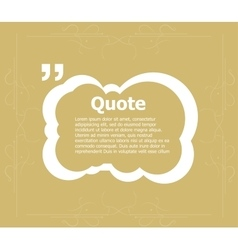 Quote blank template quote form quote bubble vector