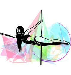 Pole dance woman vector