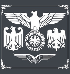 Heraldric eagle 3 vector