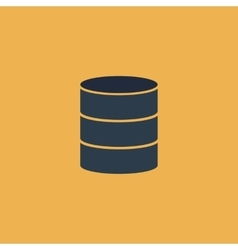 Database flat icon vector