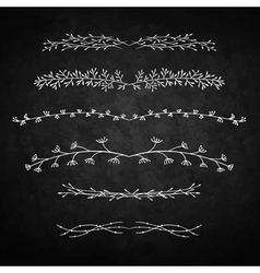 Decorative doodle branches six vector