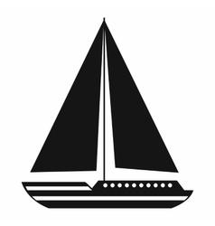 Sea yacht icon simple style vector