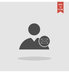 User icon envelope mail vector